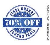 70   final chance stamp.  | Shutterstock . vector #247493407