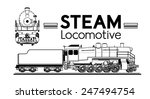 Line Drawing Of A Steam...