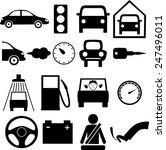 icons on the theme of the car... | Shutterstock . vector #247496011