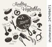healthy organic vegetables | Shutterstock .eps vector #247498471