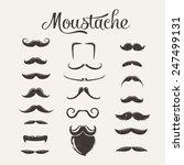 mustache vector set | Shutterstock .eps vector #247499131