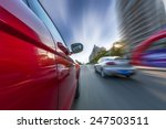 car on the road wiht motion... | Shutterstock . vector #247503511