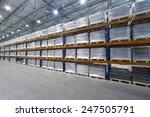 A Large Warehouse. Pallet Meta...