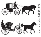 carriage with horse. hansom cab ... | Shutterstock .eps vector #247511224