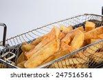 freshly baked french fries in...   Shutterstock . vector #247516561