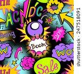 comic book explosion pattern... | Shutterstock .eps vector #247518091