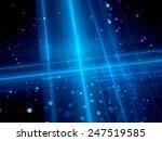 blue glowing futuristic... | Shutterstock . vector #247519585