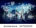 global finance business... | Shutterstock . vector #247520335
