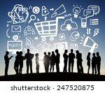 business people online... | Shutterstock . vector #247520875