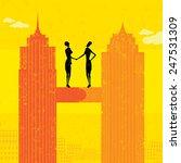 business merger two... | Shutterstock .eps vector #247531309