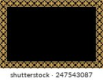 golden thai style pattern... | Shutterstock . vector #247543087