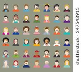people diversity portrait... | Shutterstock .eps vector #247543915