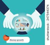 businessman asking a crystal... | Shutterstock .eps vector #247544374