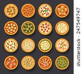 pizza icon set | Shutterstock .eps vector #247549747