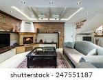 multilevel living room interior | Shutterstock . vector #247551187