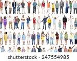 multiethnic casual people... | Shutterstock . vector #247554985