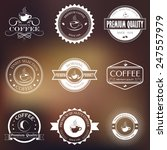 set of vector vintage retro... | Shutterstock .eps vector #247557979