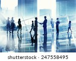 business people handshake... | Shutterstock . vector #247558495