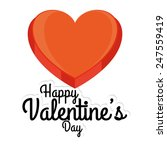 an isolated red heart and text... | Shutterstock .eps vector #247559419