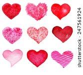hand drawn valentine's day... | Shutterstock . vector #247561924