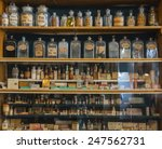 empty scent bottles in old... | Shutterstock . vector #247562731