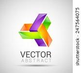 abstract element shape vector... | Shutterstock .eps vector #247564075