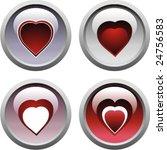 set of heart icons | Shutterstock .eps vector #24756583