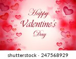 valentines day lettering... | Shutterstock . vector #247568929