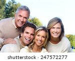 happy family over park nature... | Shutterstock . vector #247572277