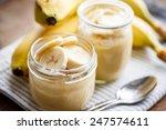 banana pudding for breakfast   Shutterstock . vector #247574611