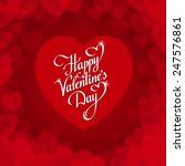 lettering heart on red... | Shutterstock .eps vector #247576861