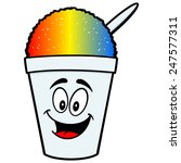 shaved ice mascot