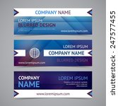 vector company banners with... | Shutterstock .eps vector #247577455