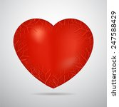 valentine s day unusual heart... | Shutterstock .eps vector #247588429