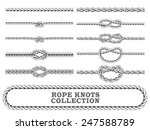 rope knots collection. overhand ... | Shutterstock .eps vector #247588789