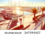 sunny port with boats | Shutterstock . vector #247595437