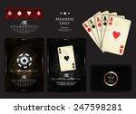 casino card design collection... | Shutterstock .eps vector #247598281