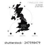 geometric map design travel... | Shutterstock .eps vector #247598479