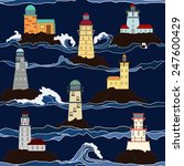 pattern of lighthouse in the sea | Shutterstock .eps vector #247600429