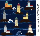 pattern of lighthouse in the sea | Shutterstock .eps vector #247600435