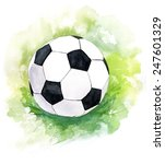 A Drawing Of A Football  Socce...