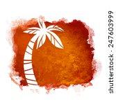 vector watercolor coffee grunge ... | Shutterstock .eps vector #247603999