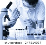 scientist with equipment and...   Shutterstock . vector #247614037