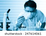 scientist with equipment and... | Shutterstock . vector #247614061