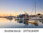 sunset in mikrolimano marina in ...   Shutterstock . vector #247616404