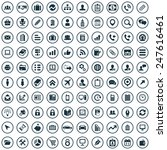 100 company icons big universal ... | Shutterstock . vector #247616461