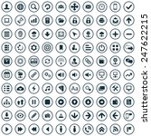 100 app icons big universal set  | Shutterstock . vector #247622215