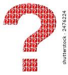 big red question mark | Shutterstock . vector #2476224