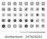 music icons. clean pictograms.  | Shutterstock .eps vector #247624231