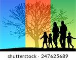 family silhouettes | Shutterstock .eps vector #247625689